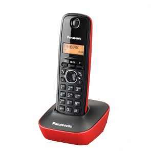 Panasonic-KX-TG1611-Black-red