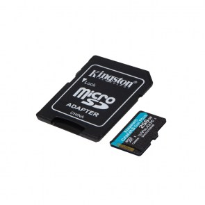 KINGSTON Memory Card MicroSD Canvas Go! Plus SDCG3/256GB, Class 10, SD Adapter