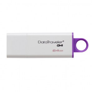 KINGSTON USB Stick Data Traveler G4 DTIG4/64GB, USB 3.0, White and Violet