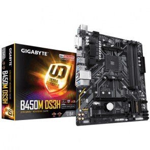 GIGABYTE MOTHERBOARD B450M DS3H , AM4 ,MATX